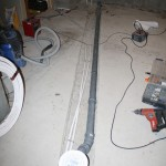 Steg 4: Förberedelser Framdragning av nya vvs detaljer, nya vattenrör och nya brunnar m.m. Även dragning av elkablar till bubblebad och belysning.