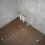 Steg 11: Tvätt-Del Borttagen brunn, nya matningar till badkar och duschdel. Nytt avlopp till tvättmaskin och torktumlare.