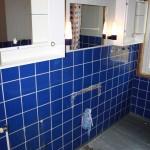 Steg 3: Dubbelkommod Påbörjad rivning av befintlig badrumsinredning.