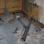 Steg 7: Installation Nydragning och utbyte av avloppsgrenar. Klart för igengjutning.