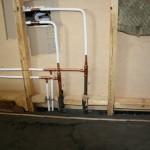 Steg 8: Vattenrör Nydragning av prisolrör till duschblandare och blandare i kök.